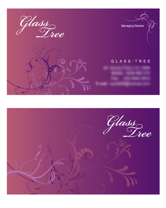 Glass Tree Business Card designed by Korean Design