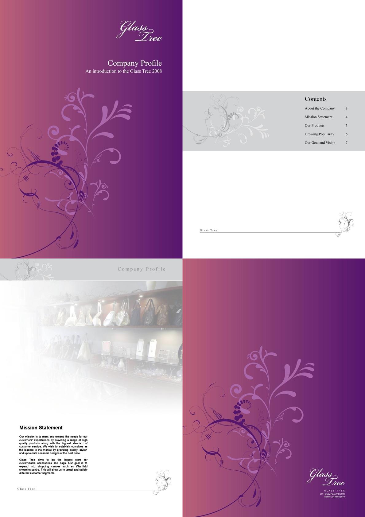GlassTree Brochure designed by Korean Design