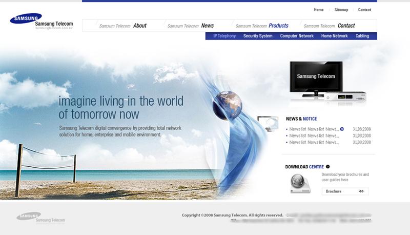 Total Samsung Solutions Website designed by Korean Design
