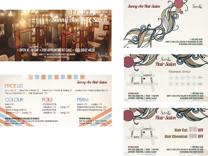 Sunny Ave Hair Salon Price List & Coupons designed by Korean Design