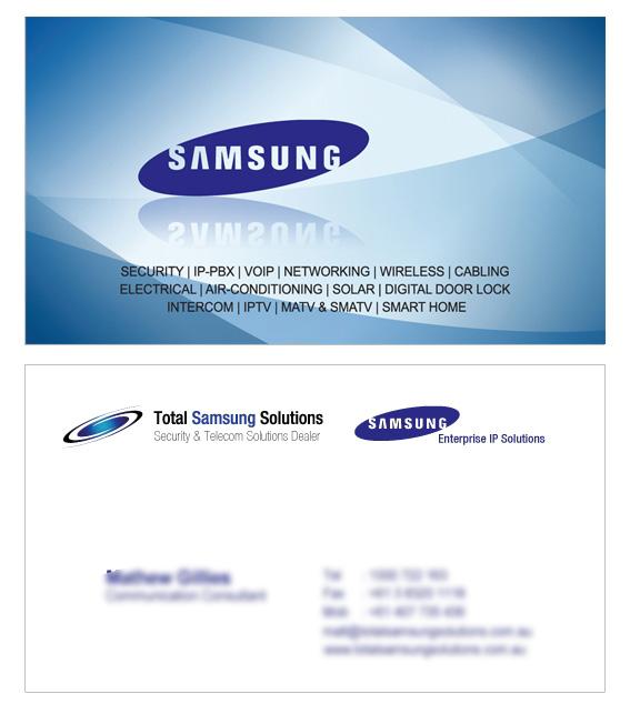 Total Samsung Solutions Business Card designed by Korean Design